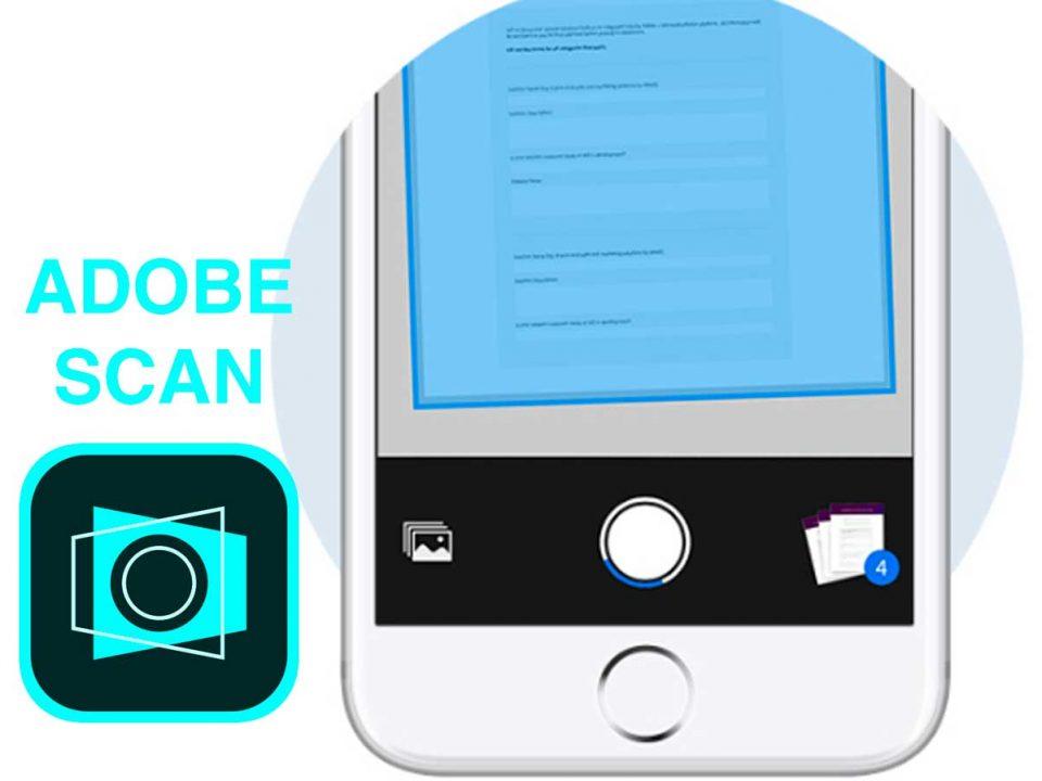 اپلیکیشن اسکنر جیبی Adobe Scan