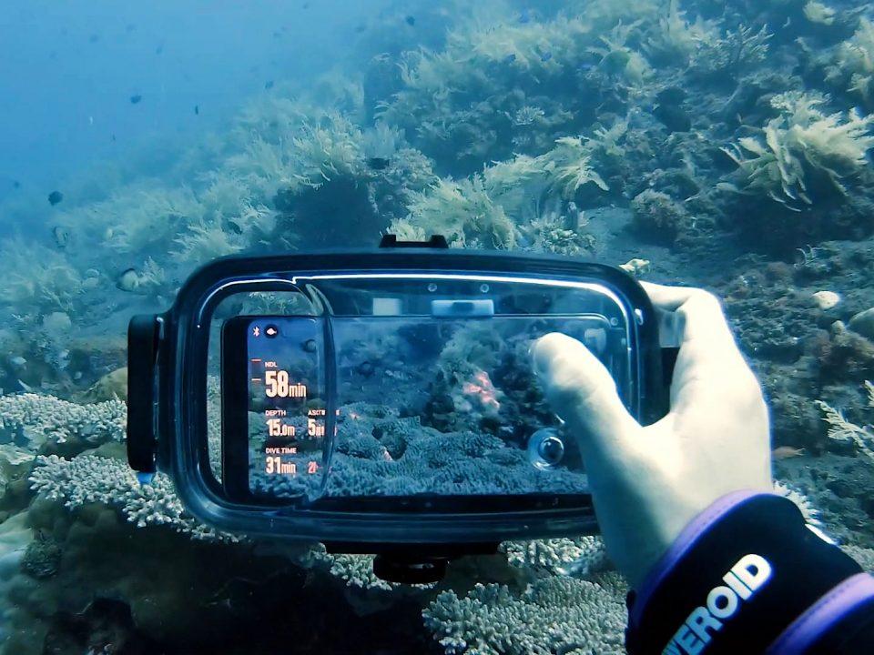 عکاسی زیر آب با گوشی موبایل