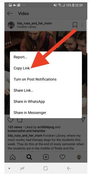 آموزش دانلود ویدئوهای اینستاگرام