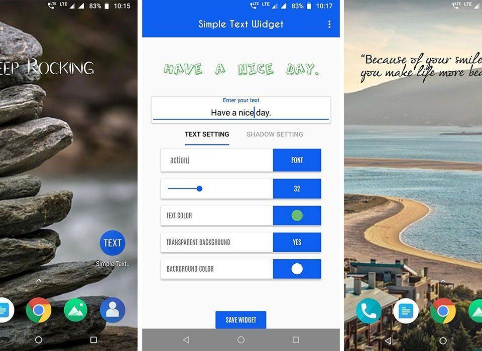 امروز اپلیکیشن Simple text widget را رایگان دانلود کنید