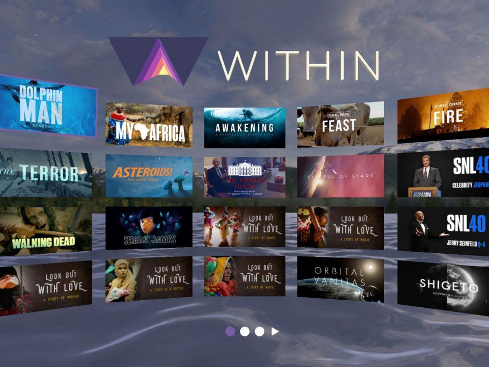 اپلیکیشن واقعیت مجازی Within VR